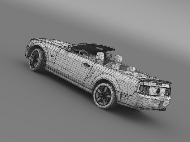 ford mustang convertible gt 2005 3d model 3ds max fbx c4d lwo ma mb hrc xsi obj 143245