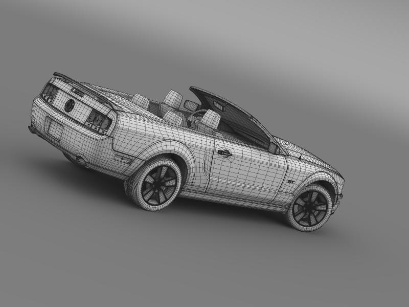 ford mustang convertible gt 2005 3d model 3ds max fbx c4d lwo ma mb hrc xsi obj 143246