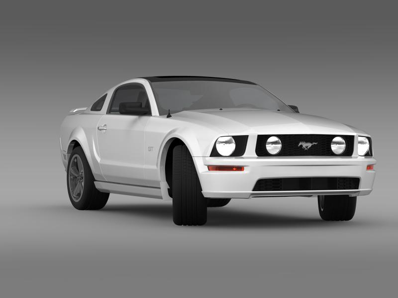 Ford mustang üvegfesték 2009 3d modell 3ds max fbx c4d lwo ma mb hrc xsi obj 143267