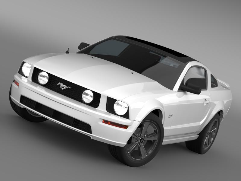 Ford mustang üvegfesték 2009 3d modell 3ds max fbx c4d lwo ma mb hrc xsi obj 143268