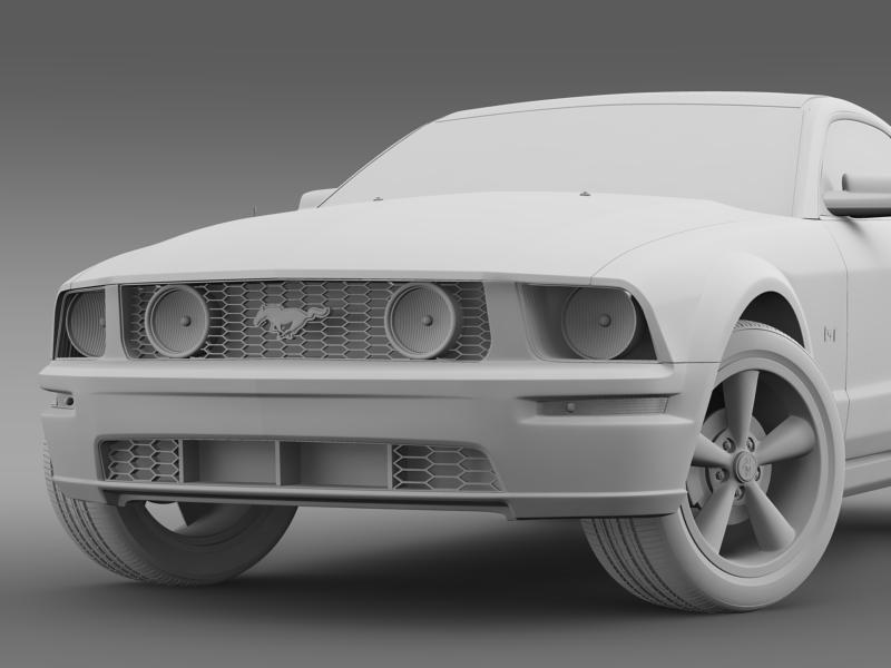 Ford mustang üvegfesték 2009 3d modell 3ds max fbx c4d lwo ma mb hrc xsi obj 143272