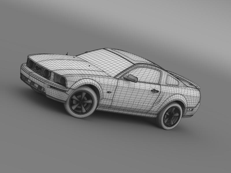 Ford mustang üvegfesték 2009 3d modell 3ds max fbx c4d lwo ma mb hrc xsi obj 143276