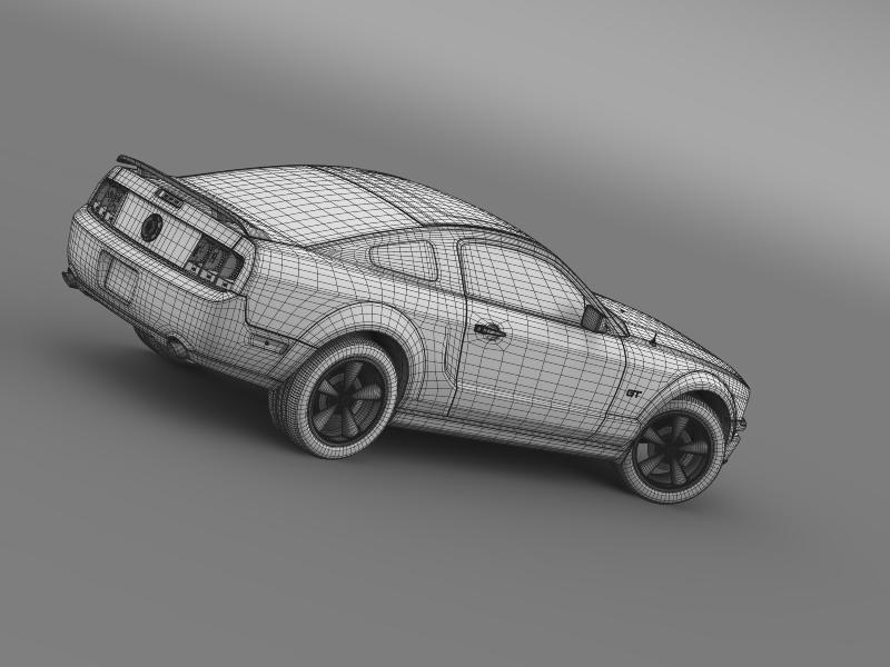 Ford mustang üvegfesték 2009 3d modell 3ds max fbx c4d lwo ma mb hrc xsi obj 143279