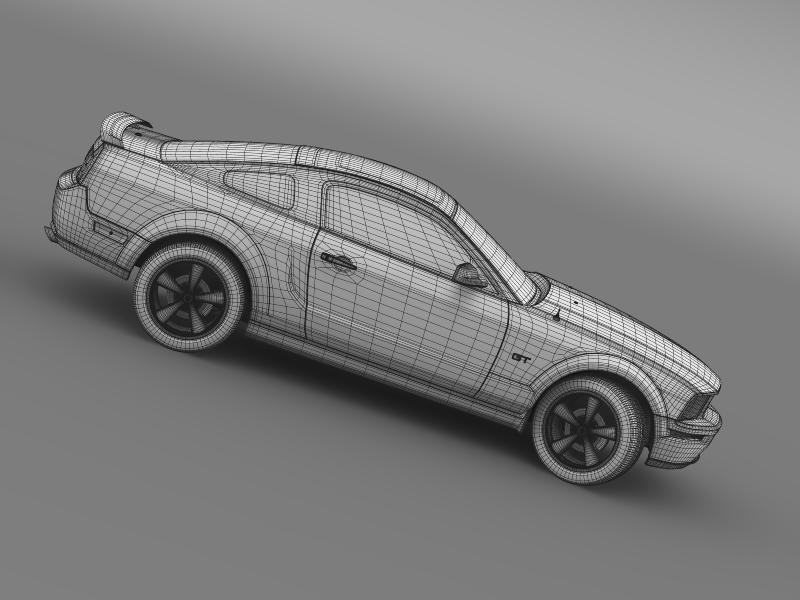 Ford mustang üvegfesték 2009 3d modell 3ds max fbx c4d lwo ma mb hrc xsi obj 143280