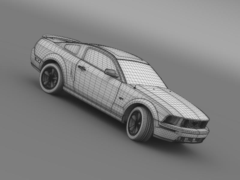 Ford mustang üvegfesték 2009 3d modell 3ds max fbx c4d lwo ma mb hrc xsi obj 143281