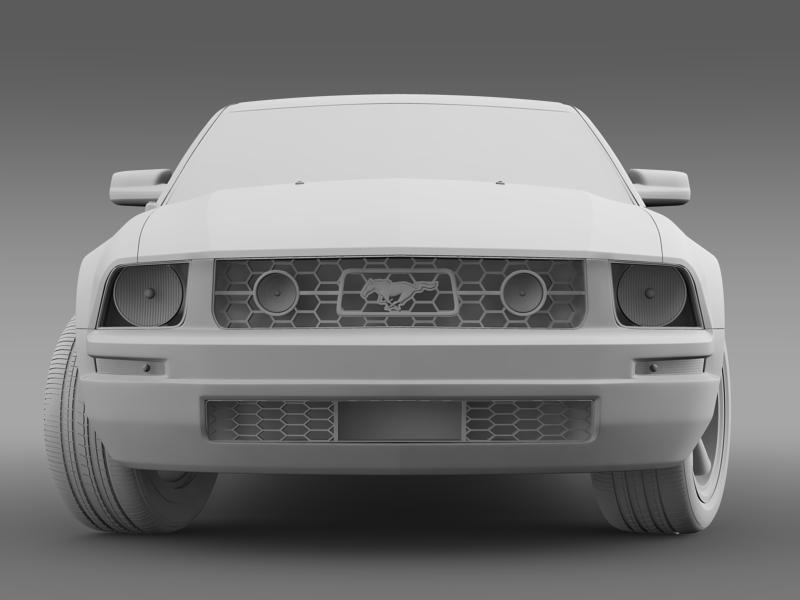 ford mustang v6 póni 2006 3d modell 3ds max fbx c4d lwo ma mb hrc xsi obj 143329