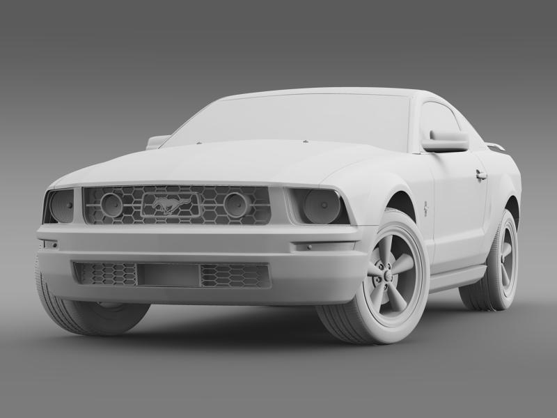 ford mustang v6 póni 2006 3d modell 3ds max fbx c4d lwo ma mb hrc xsi obj 143330