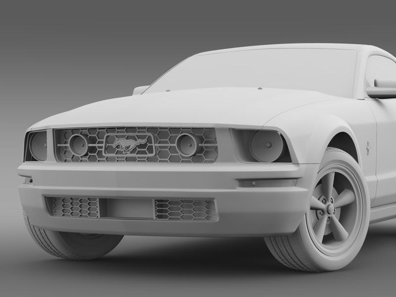ford mustang v6 póni 2006 3d modell 3ds max fbx c4d lwo ma mb hrc xsi obj 143331