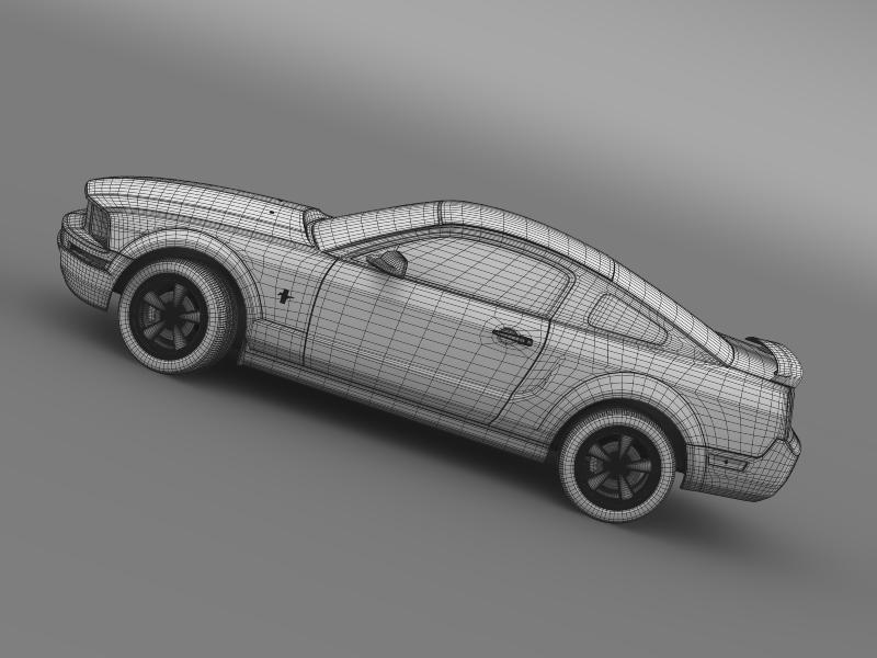 ford mustang v6 póni 2006 3d modell 3ds max fbx c4d lwo ma mb hrc xsi obj 143336