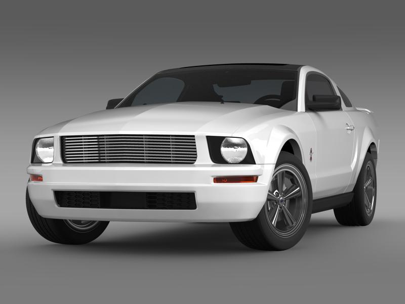 ford mustang wip 2009 3d modell 3ds max fbx c4d lwo ma mb hrc xsi objektum 143348