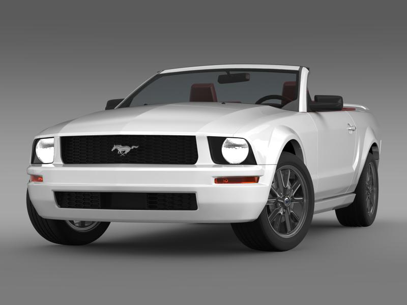 Ford Mustang Convertible 2005 3d Model Automobile