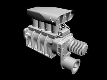 fuel injected gmc blower 3d model 3ds dxf 99086