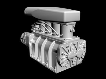Yanacaq enjekte edilmiş gmc üfleyicisi 3d modeli 3ds dxf 99087