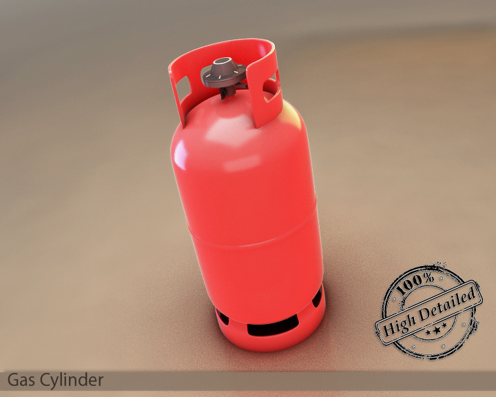 gas cylinder 3d model 3ds max fbx obj 117805