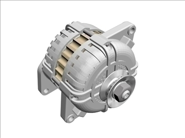 generic alternator 3d model 3ds dxf 99067