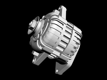 generic alternator 3d model 3ds dxf 99068