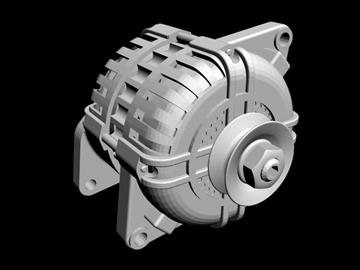 generic alternator 3d model 3ds dxf 99069