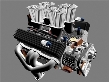 hilborn-injected chevrolet v8 engine 3d model 3ds dxf 88107