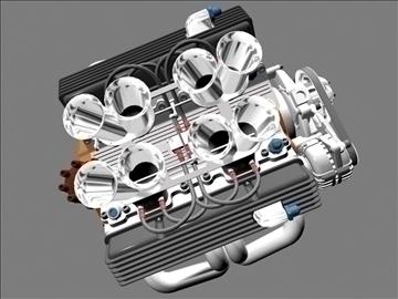 hilborn-injected chevrolet v8 engine 3d model 3ds dxf 88108