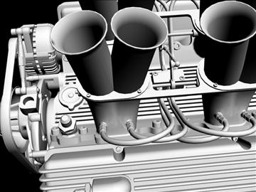 hilborn-injected chevrolet v8 engine 3d model 3ds dxf 88112