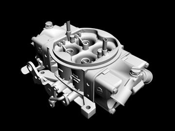holley 4 cijevni rasplinjač 3d model 3ds 87989