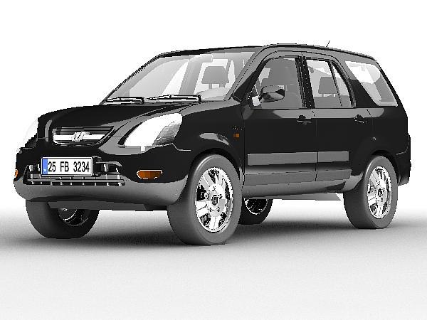 Honda CR-X 3d model 3ds max lwo obj 125293