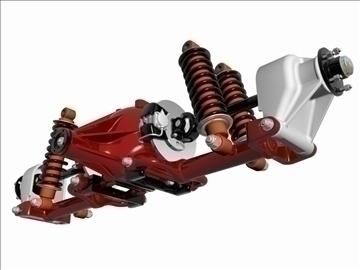jaguar rear suspension 3d model 3ds dxf 94639