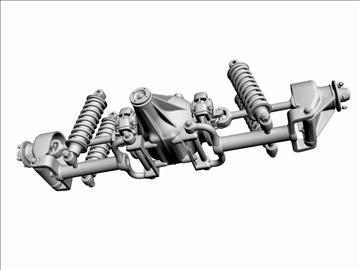jaguar rear suspension 3d model 3ds dxf 94643