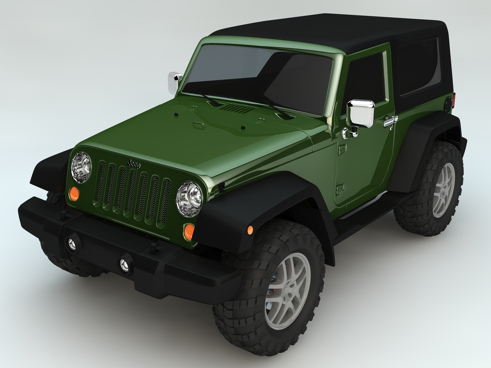 jeep wrangler rubicon 2007 high poly 3d model c4d 155016