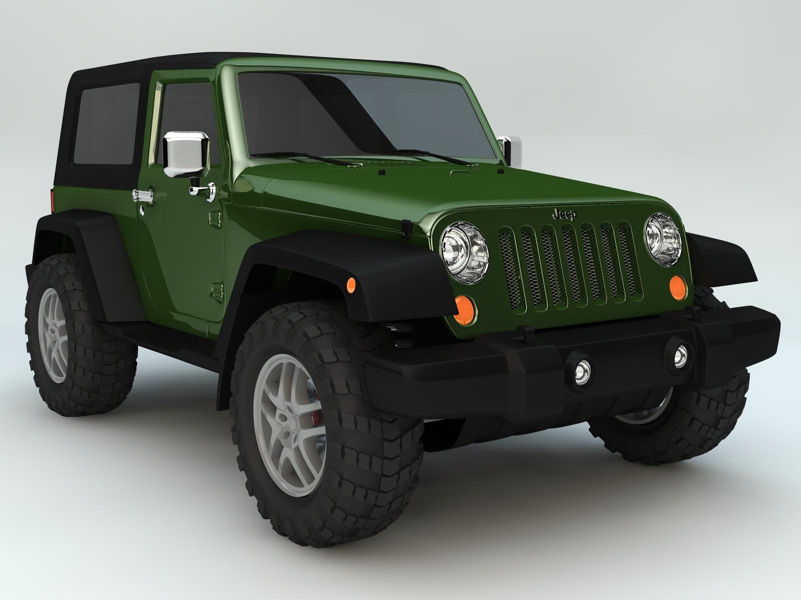 jeep wrangler rubicon 2007 3d model buy jeep wrangler. Black Bedroom Furniture Sets. Home Design Ideas