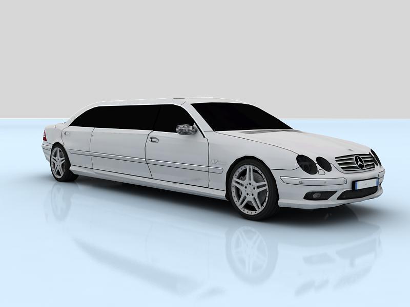 mercedes-benz cl65 limousine (c215l) 3d model max 147872