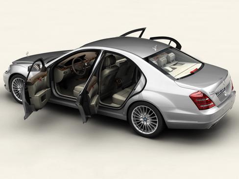 mercedes s class 2010 3d model 3ds max c4d lwo ma mb obj 113682