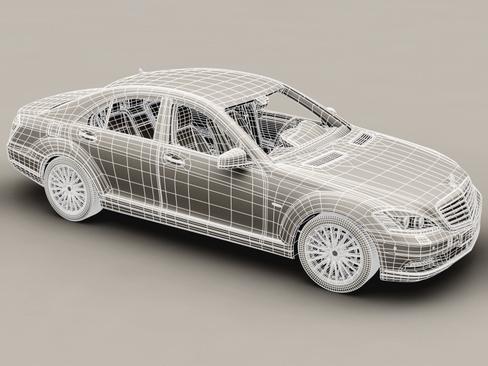 mercedes s class 2010 3d model 3ds max c4d lwo ma mb obj 113686