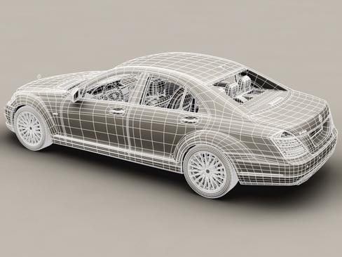 mercedes s class 2010 3d model 3ds max c4d lwo ma mb obj 113687