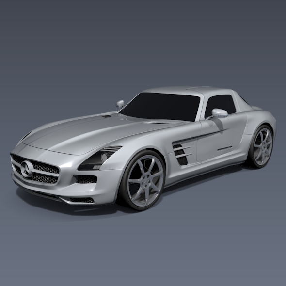 mercedes sls amg 2011 racing car 3d model 3ds fbx blend lwo obj 152604