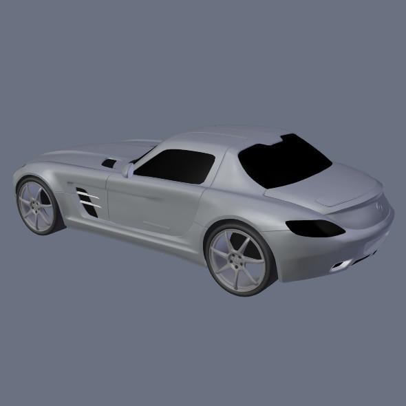 Mercedes Sls Amg 2011 Racing Car 3d Model Automobile Sls 2011 3ds
