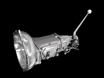 muncie 4-speed transmission 3d model 3ds 88040