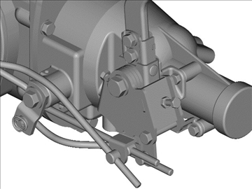 muncie 4-speed transmission 3d model 3ds 88042