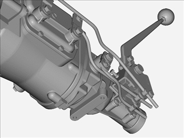 muncie 4-speed transmission 3d model 3ds 88043
