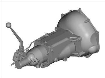 muncie 4-speed transmission 3d model 3ds 88044