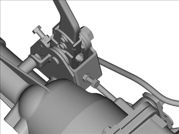 muncie 4-speed transmission 3d model 3ds 88045