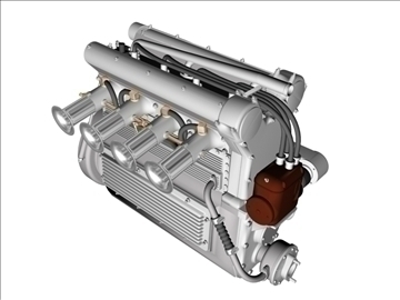 offenhauser engine 3d model 3ds dxf 99095