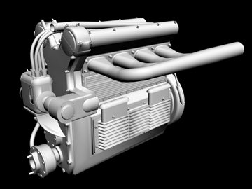 offenhauser engine 3d model 3ds dxf 99098