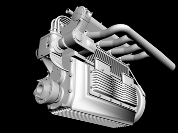 offenhauser engine 3d model 3ds dxf 99101