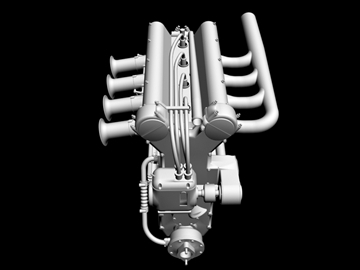 offenhauser engine 3d model 3ds dxf 99102