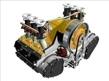 porsche 3.2 liter engine 3d model 3ds dxf 88073