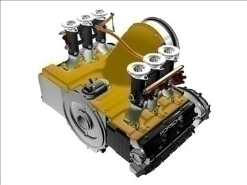 porsche 3 2 liter engine 3d model. Black Bedroom Furniture Sets. Home Design Ideas