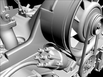 porsche 3.2 liter engine 3d model 3ds dxf 88075