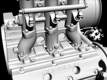 porsche 3.2 liter engine 3d model 3ds dxf 88077