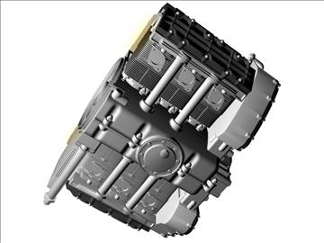 porsche 3.2 liter engine 3d model 3ds dxf 88078